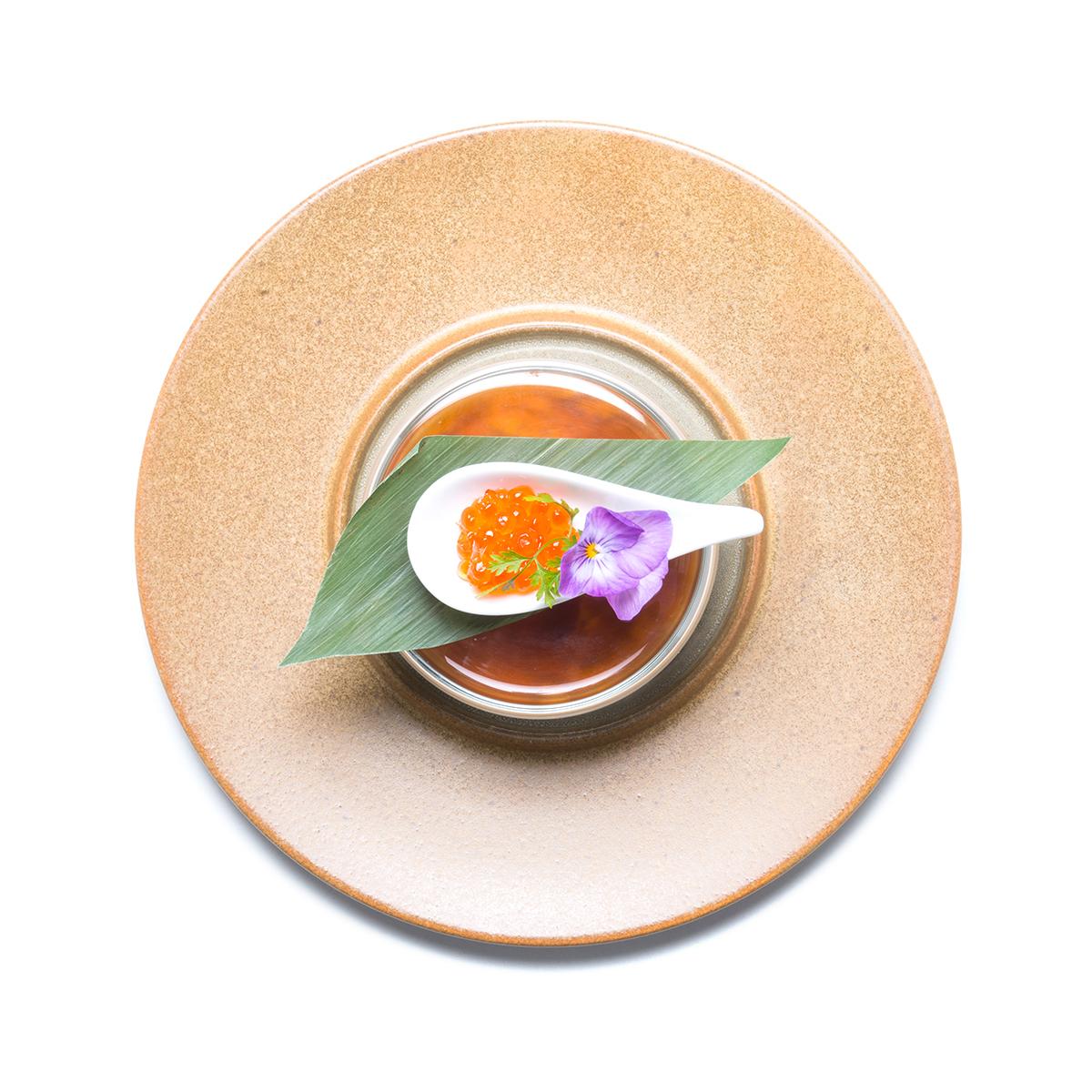 里芋とクリームチーズの変わりポテトサラダ - 冷たいお出汁で -